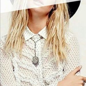 Sheer Free People Top X-small